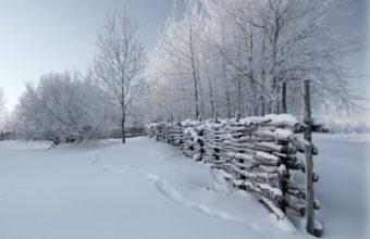 Fence Snow Winter Wallpaper 1200x900 340x220