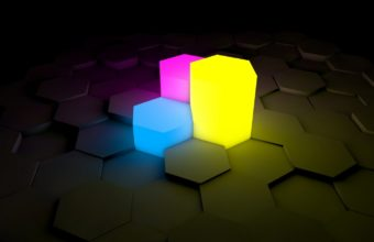 Figurines Lights Neon Wallpaper 340x220