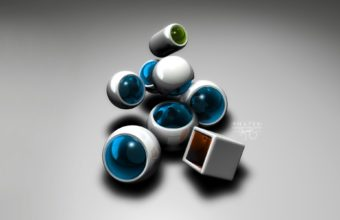 Form Balls Plastic Wallpaper 340x220