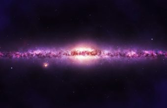 Galaxy Stars Purple Wallpaper 1920x1080 340x220