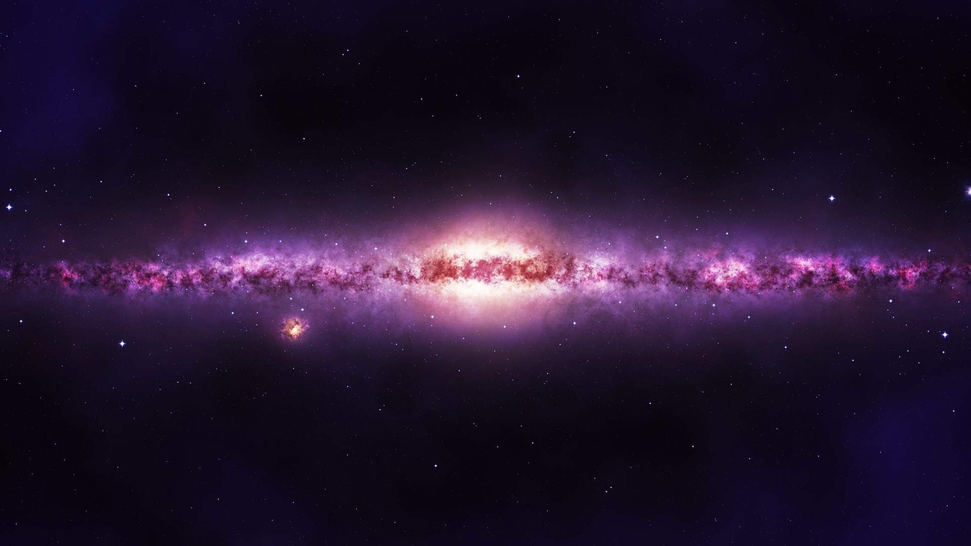 Galaxy Stars Purple Wallpaper