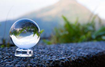 Glass Ball Reflection 4K Wallpaper 3840x2160 340x220