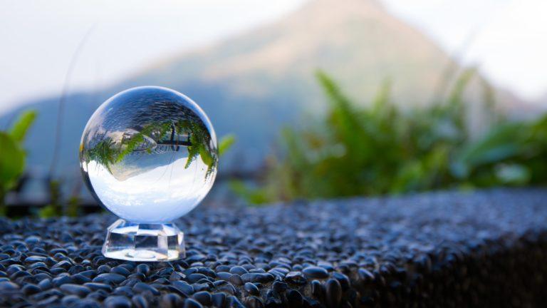 Glass Ball Reflection 4K Wallpaper 3840x2160 768x432