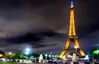 Hd Eiffel Tower Night Wallpaper 1920x1080 340x220