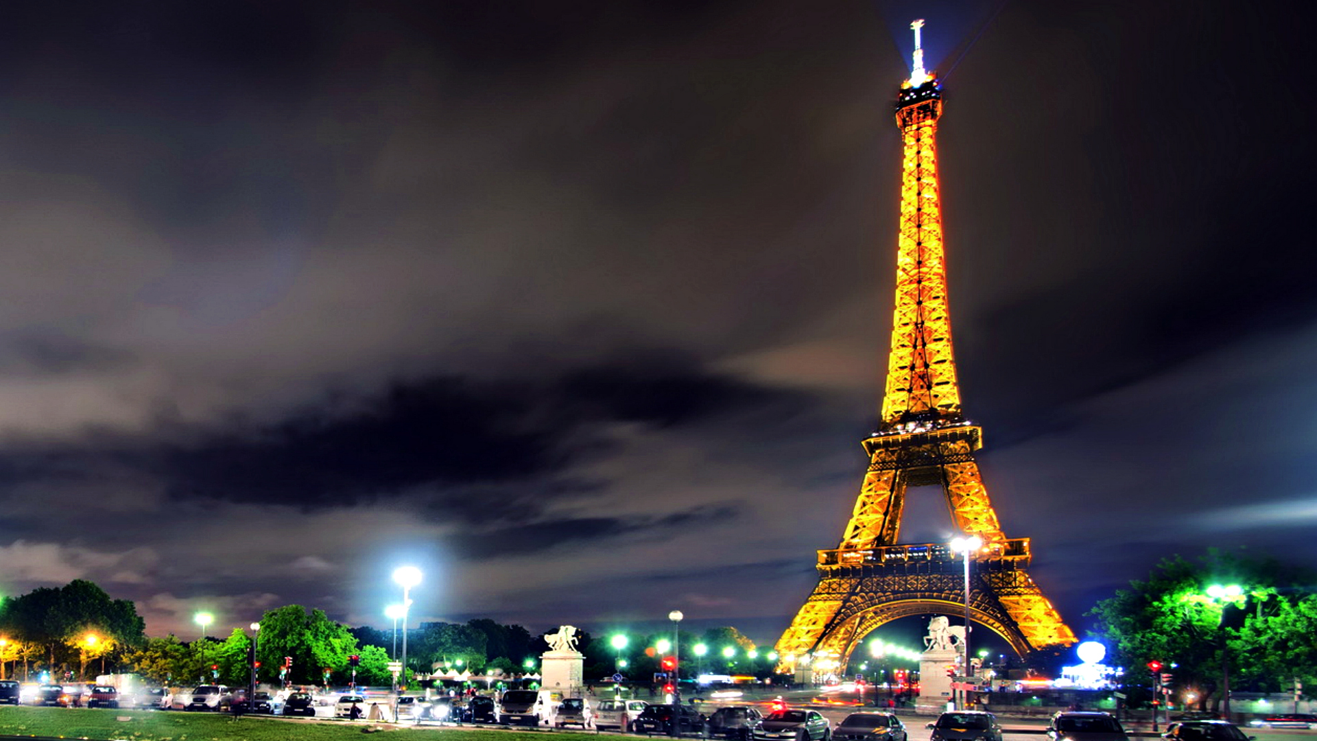 Hd Eiffel Tower Night Wallpaper 1920x1080