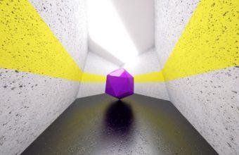Hexagonal Space Shape Wallpaper 340x220