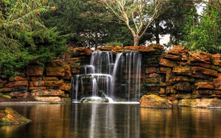 Highfields Park Waterfalls Wallpaper 768x480