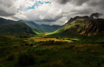 Hills England Sky Fields Mountains Wallpaper 2048x1365 340x220