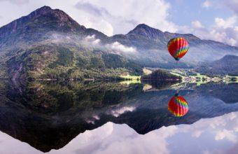 Hot Air Balloon 4K Wallpaper 3840x2160 340x220