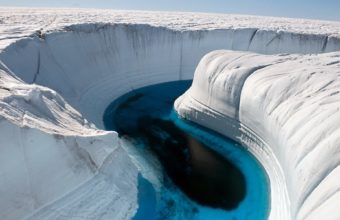 Ice Canyon In Greenland Wallpaper 1920x1200 340x220