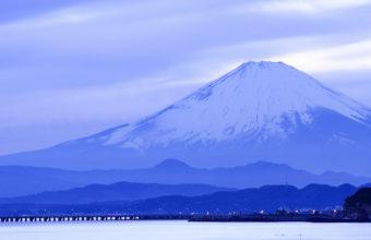 Japan Island Honshu Mountain Fuji Sea Wallpaper 2040x1110 340x220