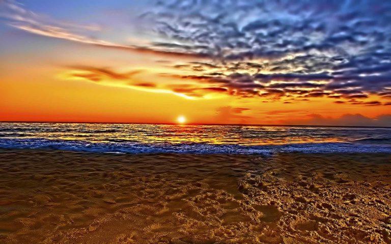 Just Beautiful Beach Sunset Wallpaper 1920x1200 768x480