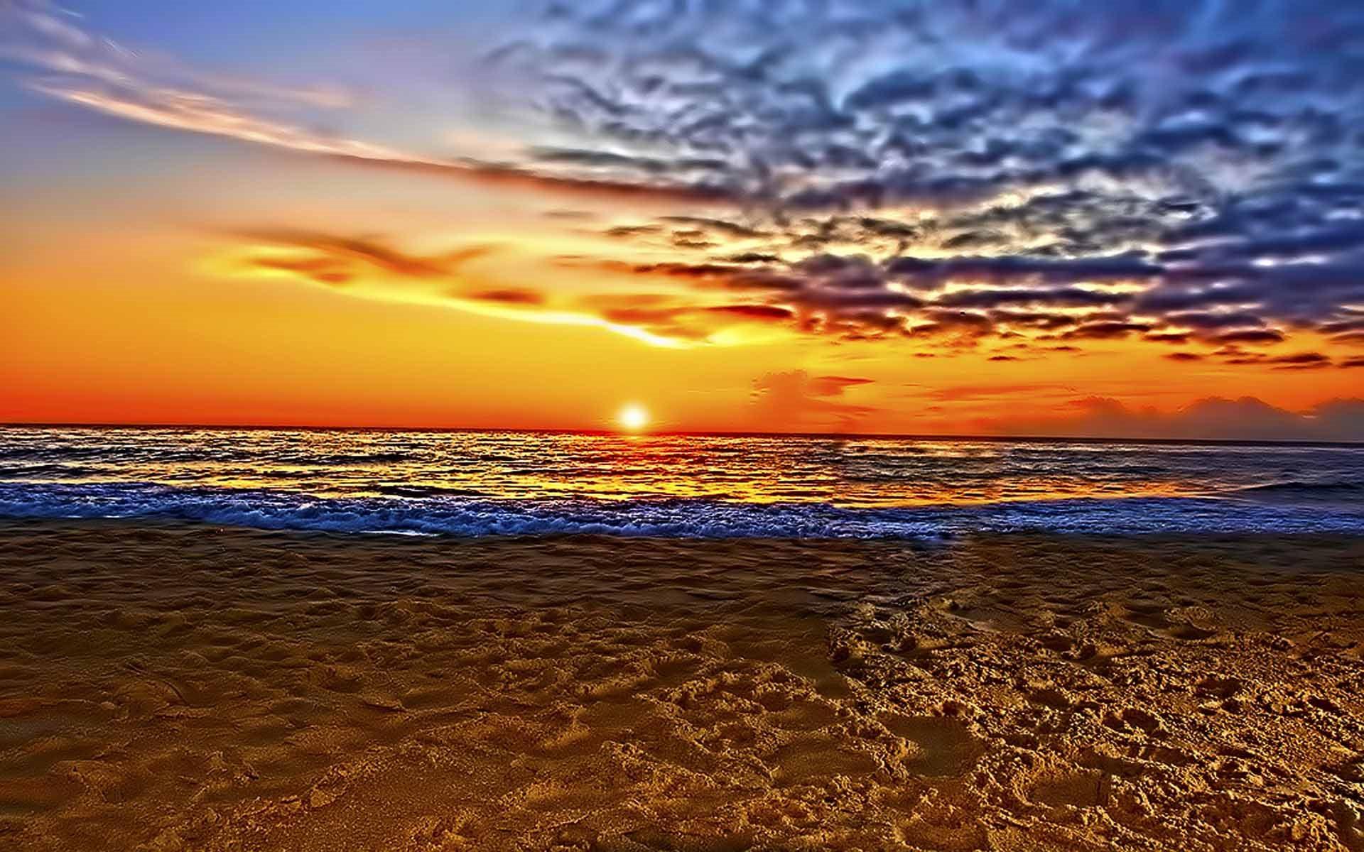 Just Beautiful Beach Sunset Wallpaper [1920x1200]Beach Sunset Backgrounds For Computer