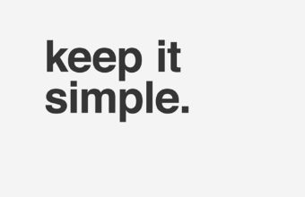 Keep it Simple White iPhone 7 Wallpaper 340x220