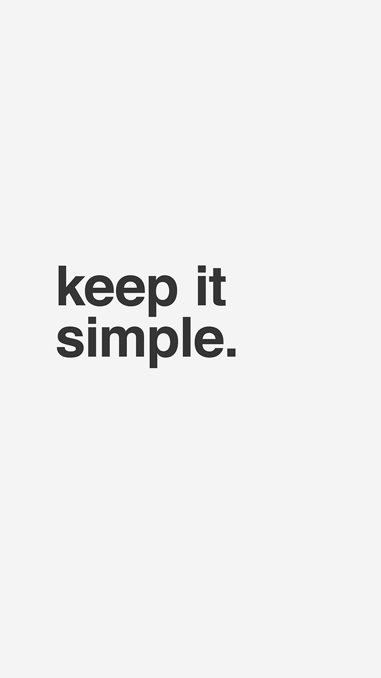 Keep It Simple White IPhone 7 Wallpaper