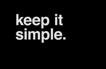 Keep it simple black iPhone 7 Wallpaper 340x220