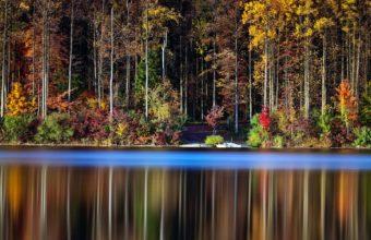 Lake Forest Otrozhenie Nature Autumn Wallpaper 1920x1200 340x220