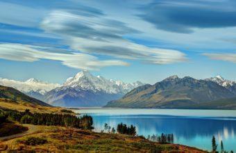 Lake New Zealand Mountains Wallpaper 3872x2241 340x220