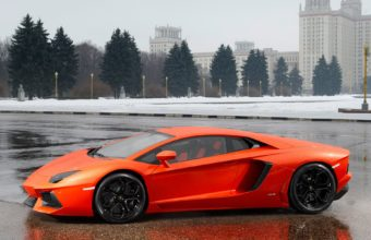 Lamborghini Aventador Lp700 4 Orange Wallpaper 1920x1200 340x220
