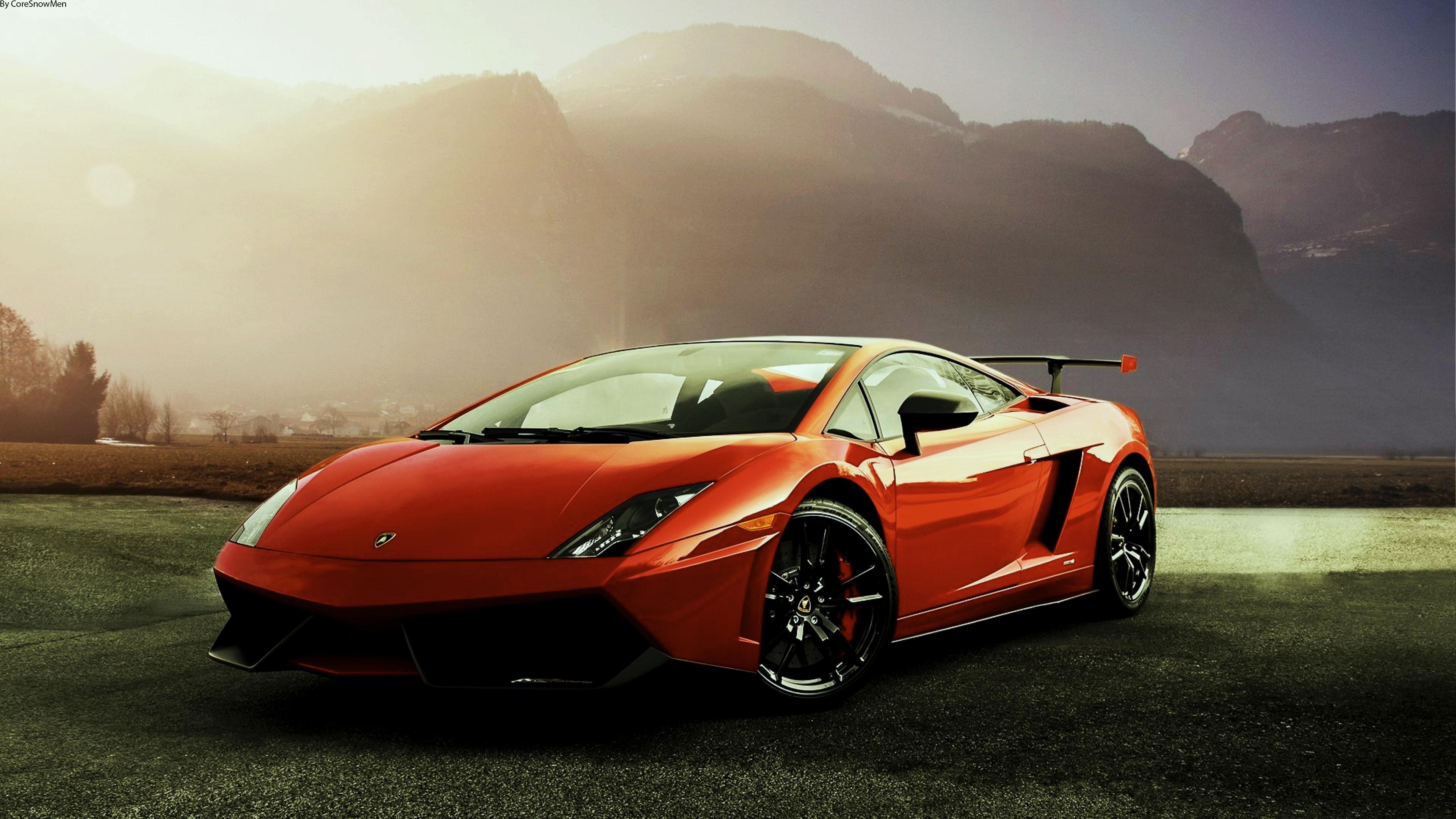 спортивный автомобиль красный lamborghini  № 719731 бесплатно