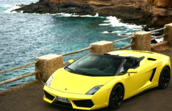 Lamborghini On Beach Wallpaper 1920x1080 340x220