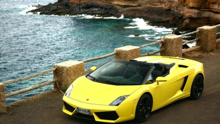 Lamborghini On Beach Wallpaper 1920x1080 768x432