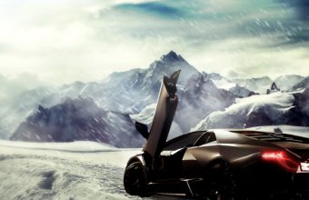 Lamborghini Reventon In Snow Wallpaper 1920x1080 340x220