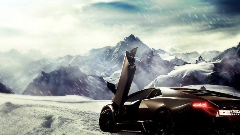 Lamborghini Reventon In Snow Wallpaper 1920x1080 768x432