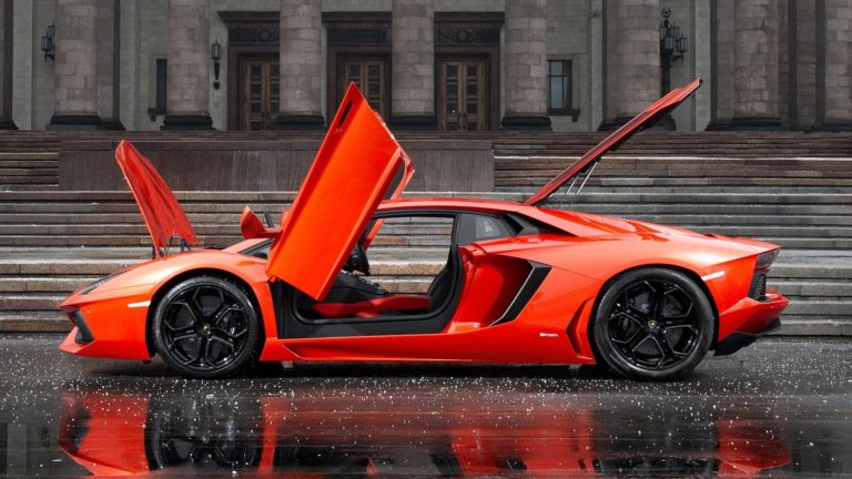 Lamborghini With Everythin Open In Hail Wallpaper 1920x1080 768x432