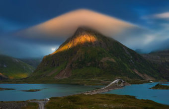 Landscape Mountain Cloud River Wallpaper 1920x1280 340x220