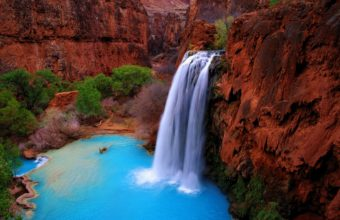 Landscapes Waterfalls Nature Wallpaper 340x220
