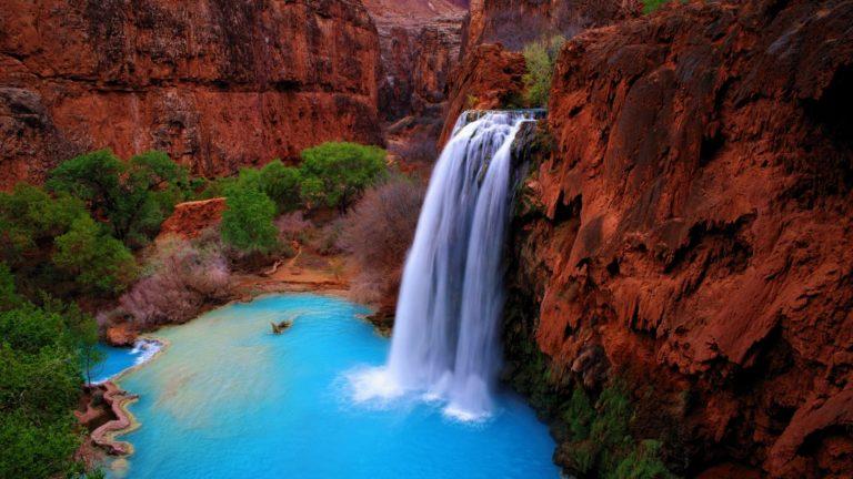 Landscapes Waterfalls Nature Wallpaper 768x432