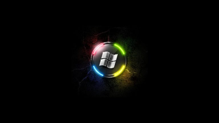 Light Neon Lamp Microsoft Windows Logos Wallpaper 1920x1080 768x432