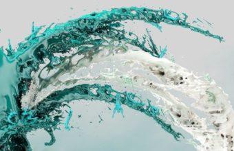 Liquid Spray Background Wallpaper 340x220