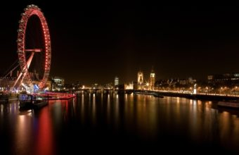 London Ferris Wheel Wallpaper 1920x1200 340x220