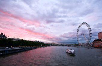 London Sunset View Wallpaper 1920x1200 340x220