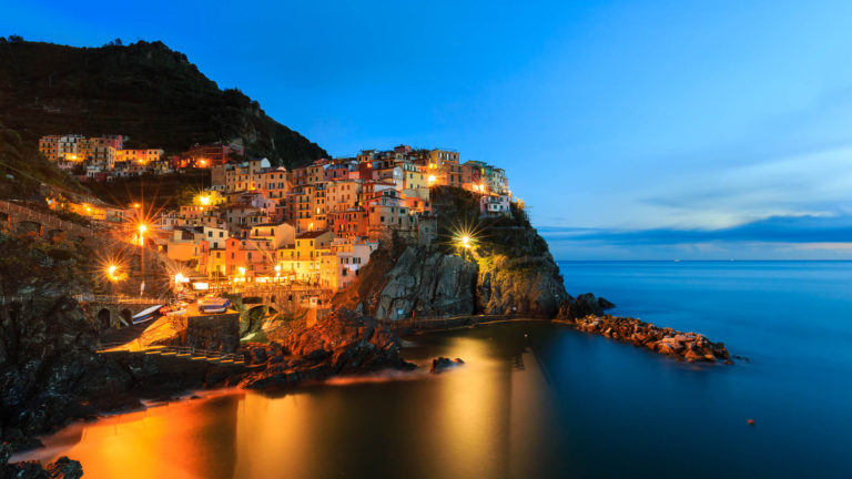 Manarola Night 4K Wallpaper 3840x2160 768x432