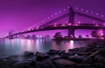 Manhattan Bridge New York City Wallpaper 2560x1600 340x220