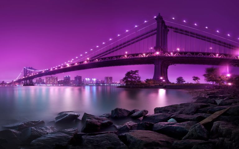 Manhattan Bridge New York City Wallpaper 2560x1600 768x480