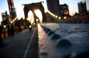Manhattan New York Bridge Bokeh Wallpaper 1920x1200 340x220