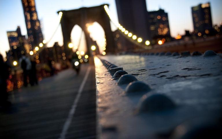 Manhattan New York Bridge Bokeh Wallpaper 1920x1200 768x480
