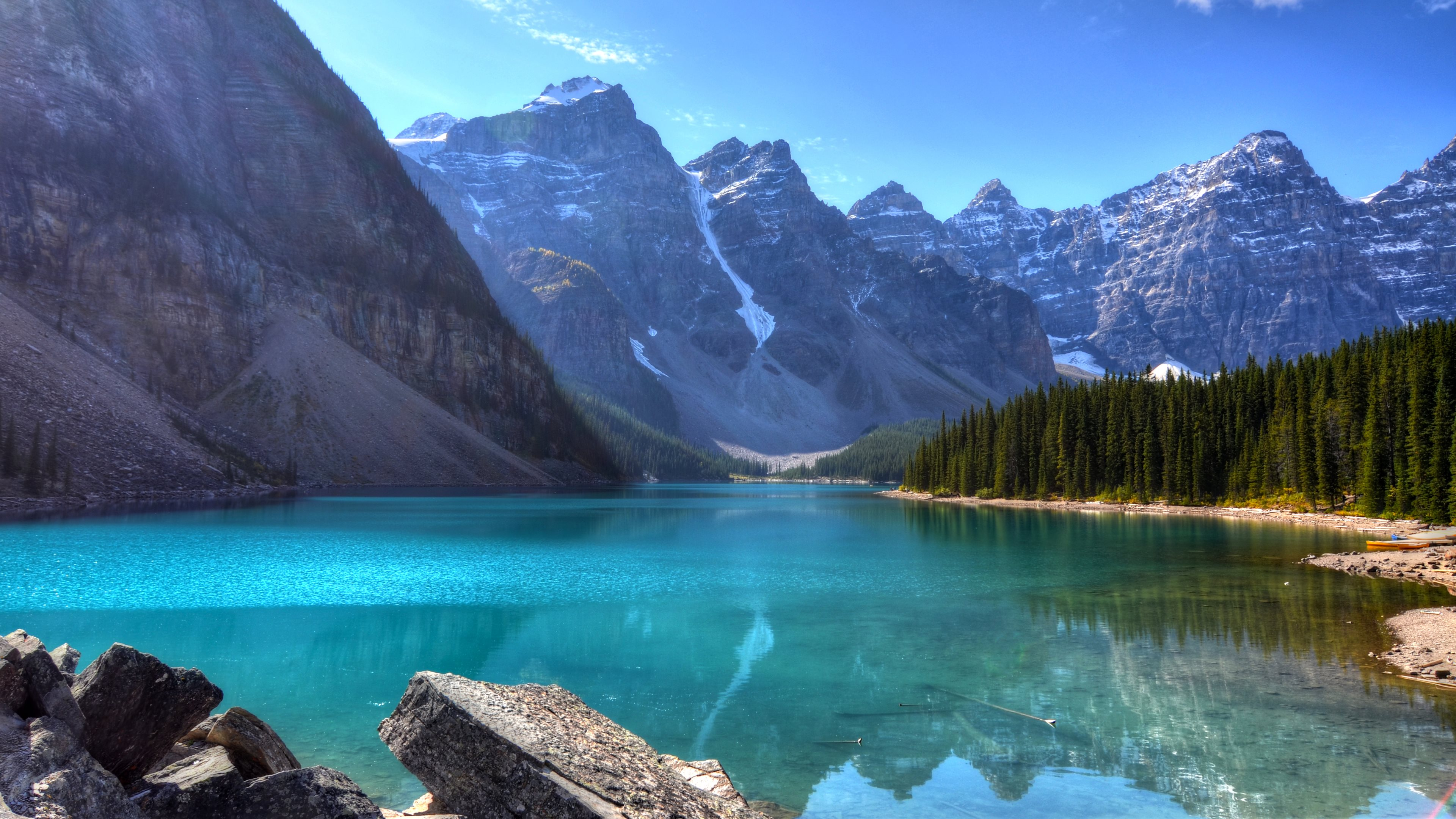 moraine lake 4k ultra hd wallpaper 4878x3225. Black Bedroom Furniture Sets. Home Design Ideas