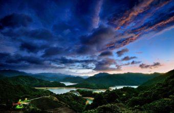 Mountain Lakes In Taipei Taiwan Wallpaper 1920x1200 340x220