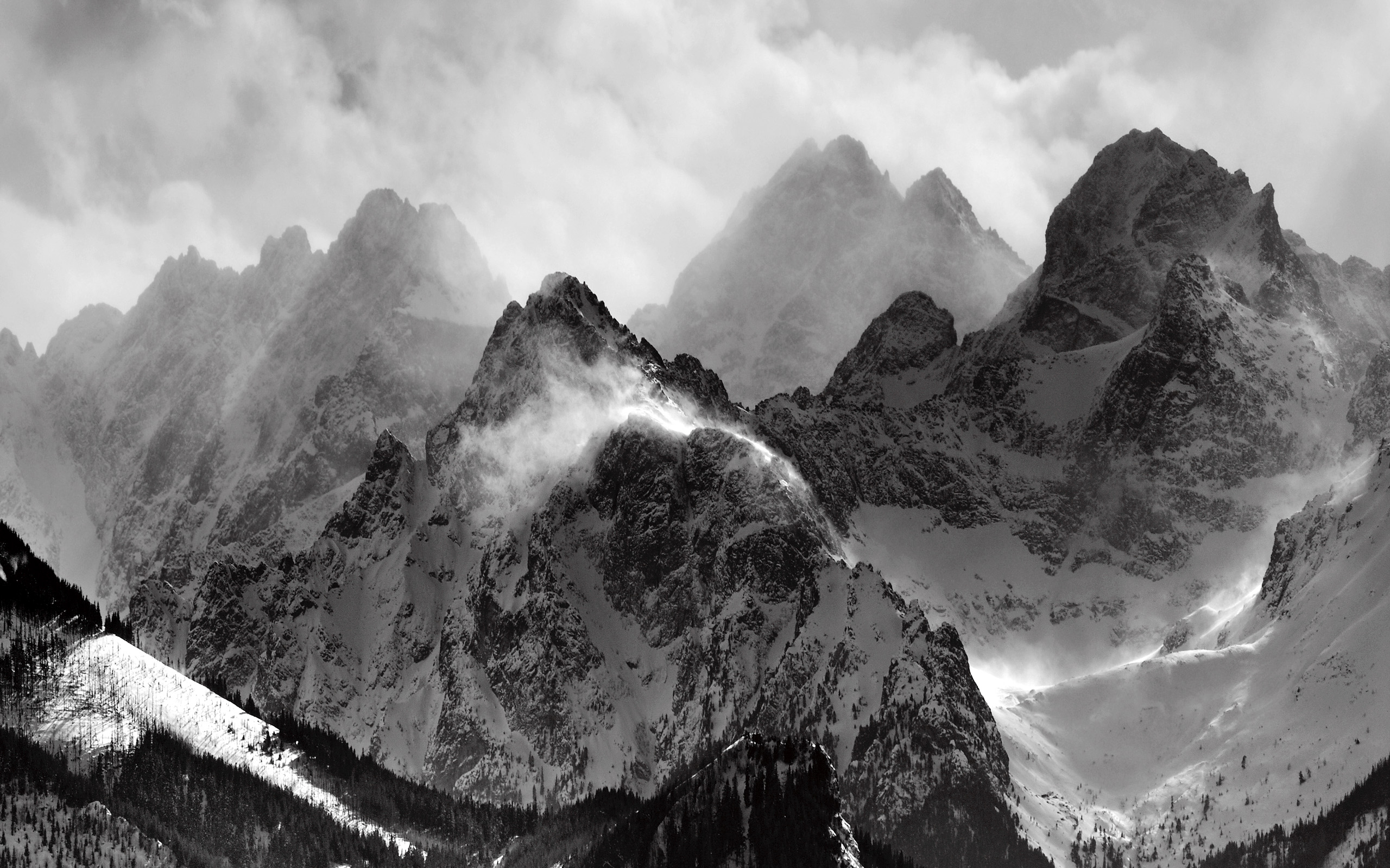 Top Wallpaper Mountain Cloud - Mountains-Clouds-Glacier-Grayscale-Wallpaper-2560x1600  Gallery_275659.jpg