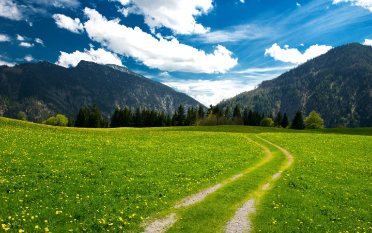 Mountains Landscape Trees Clouds Wallpaper 2560x1600 768x480