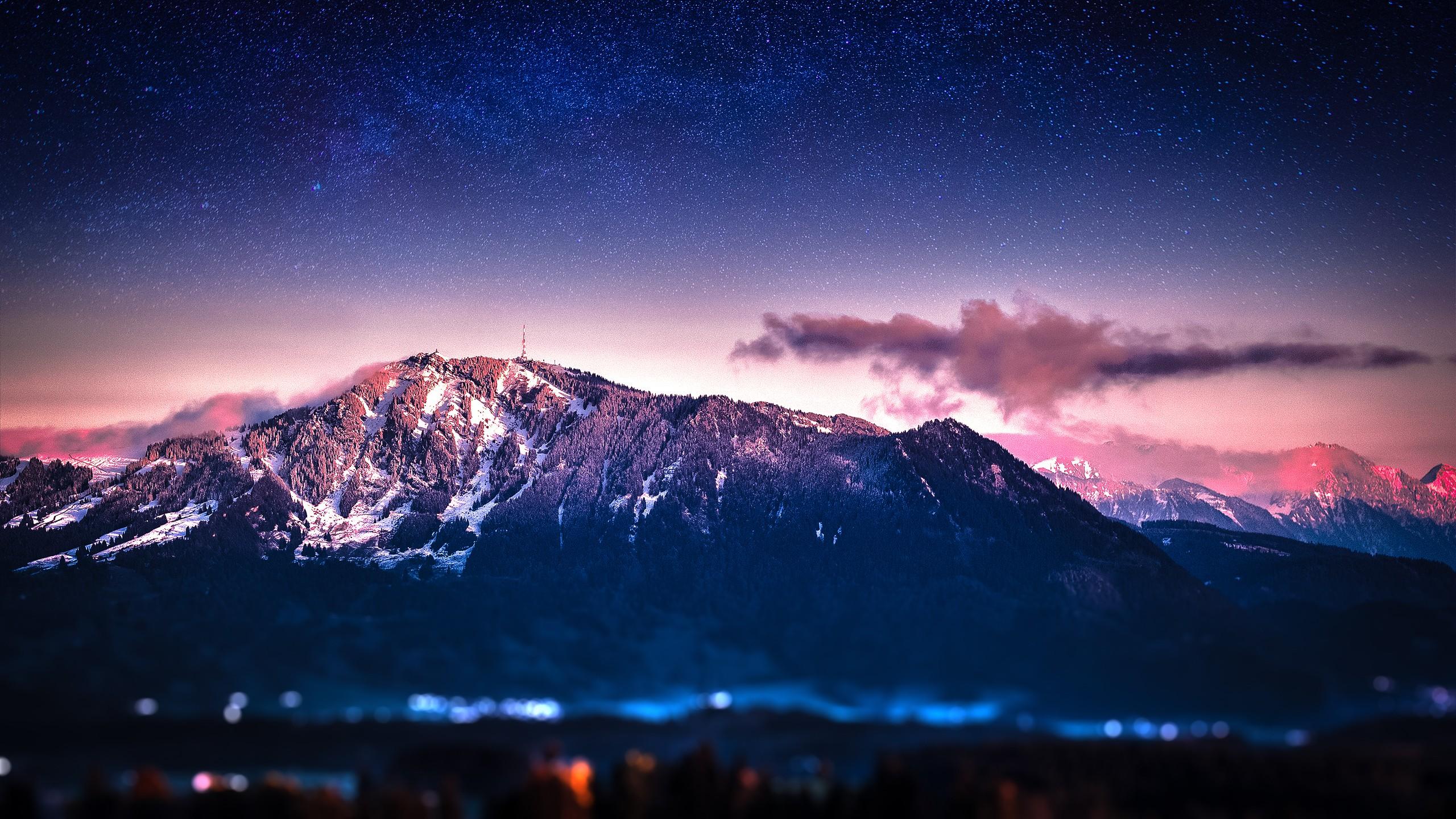 гора ночь звезды бесплатно
