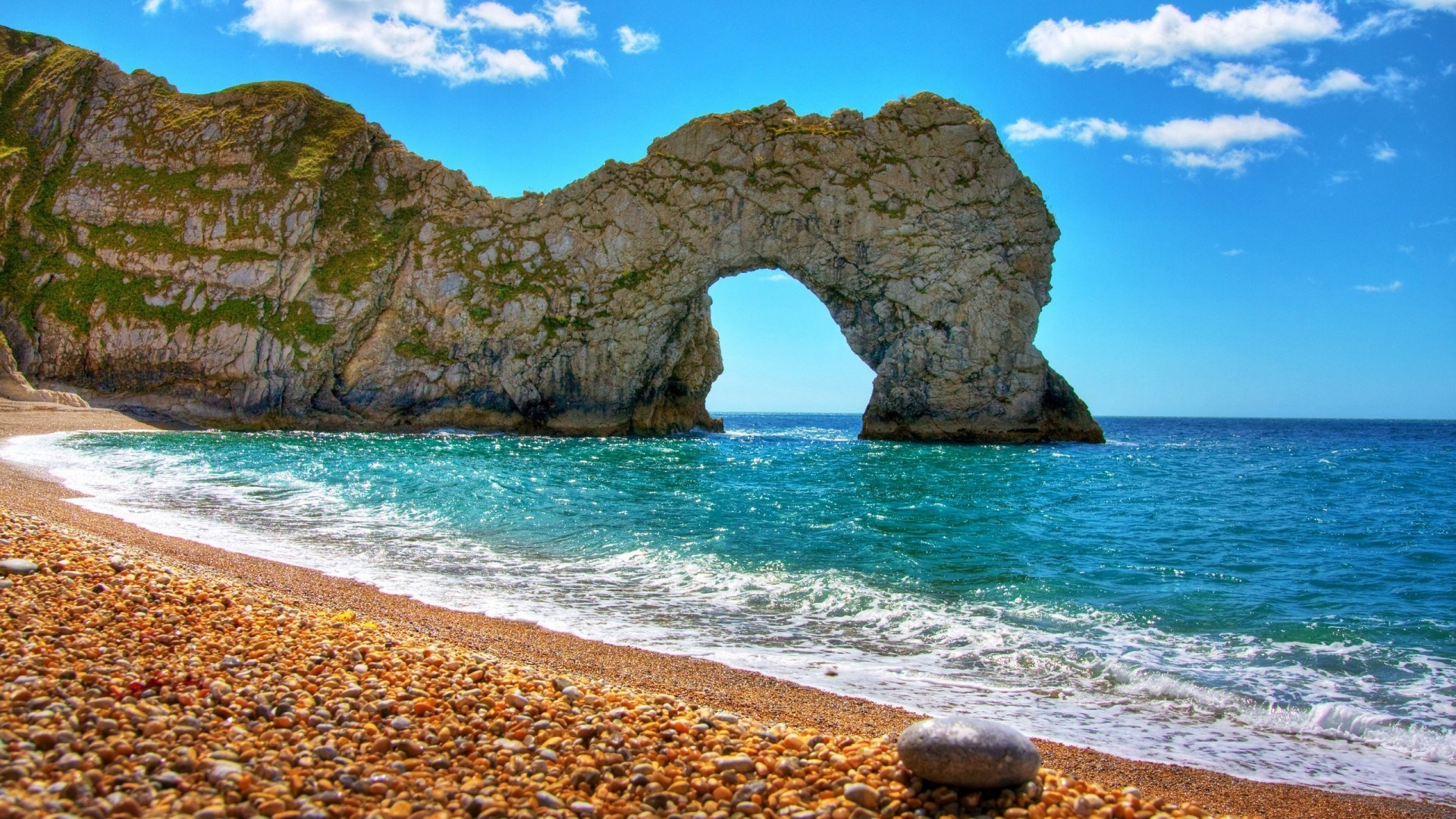 Nature Beach Summer Spain Durdle Door Wallpaper 1920x1080