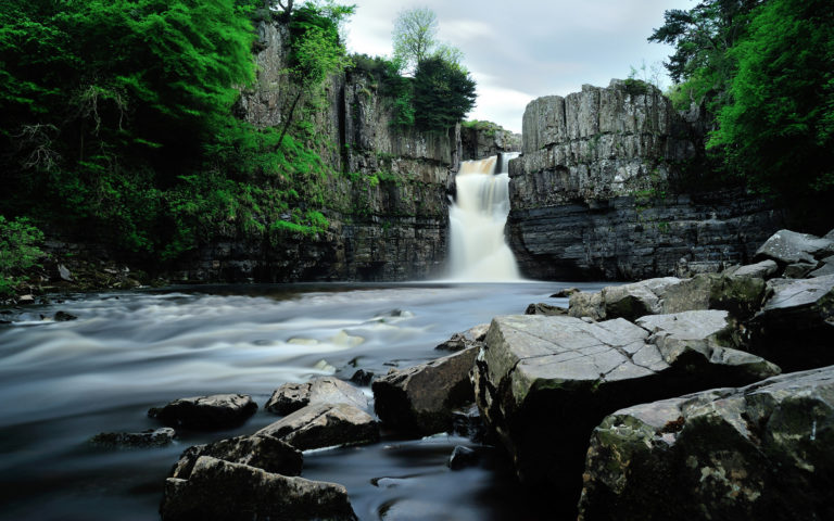 Nature Landscapes Waterfall Rivers Pool Wallpaper 768x480