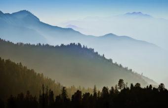 Nature Mountain Range Fog Sunrise 4K Ultra HD Wallpaper 3840x2160 340x220