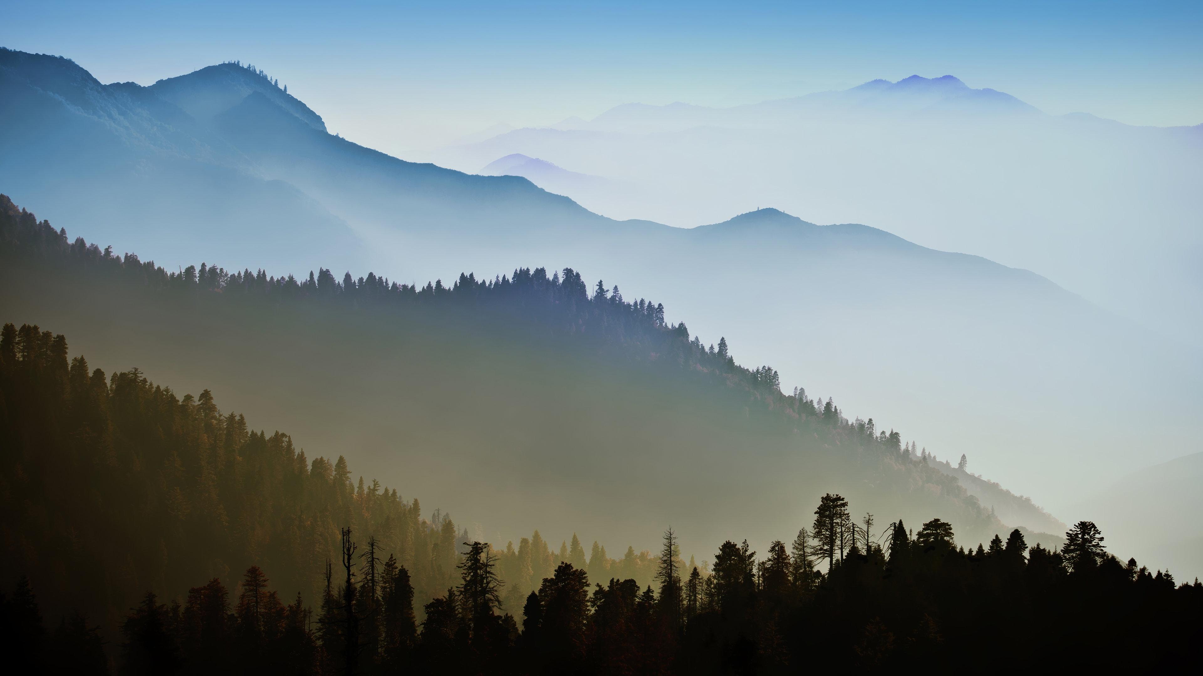 Nature Mountain Range Fog Sunrise 4K Ultra HD Wallpaper ...